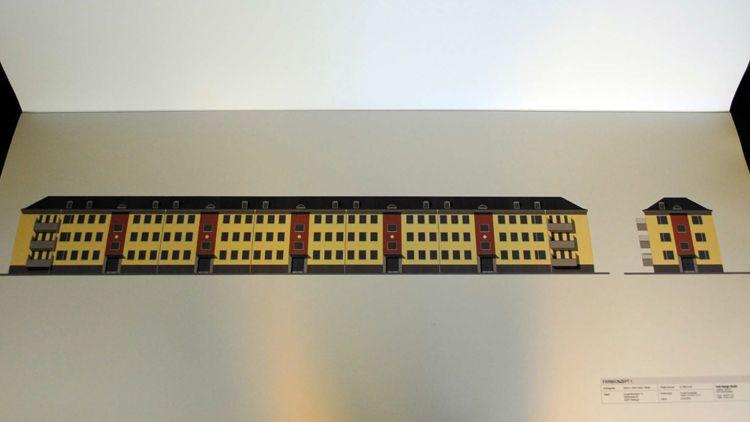 2018 11 06 Maler Wedel Hamburg Aussenarbeiten Digitale Farbvorschlaege Aussenfassade rot gelbe Reihe 1